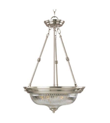 Maxim Lighting Signature 3 Light Pendant in Satin Nickel 5824CLSN photo