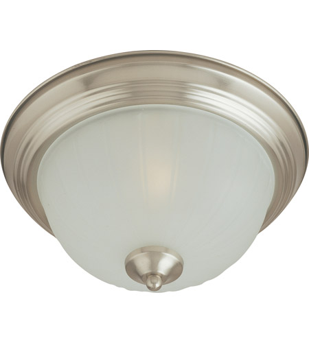 Maxim Lighting Signature 1 Light Flush Mount in Satin Nickel 5830FTSN photo