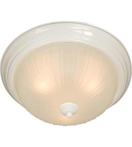 Maxim Lighting Signature 3 Light Flush Mount in White 5832FTWT photo