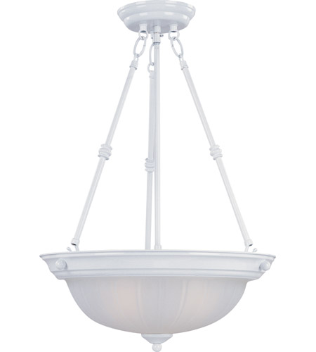 Maxim Lighting Signature 3 Light Pendant in White 5835FTWT photo