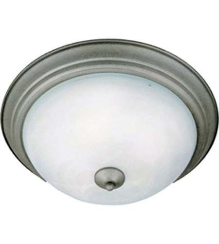 Maxim Lighting Signature 1 Light Flush Mount in Pewter 5840MRPE photo