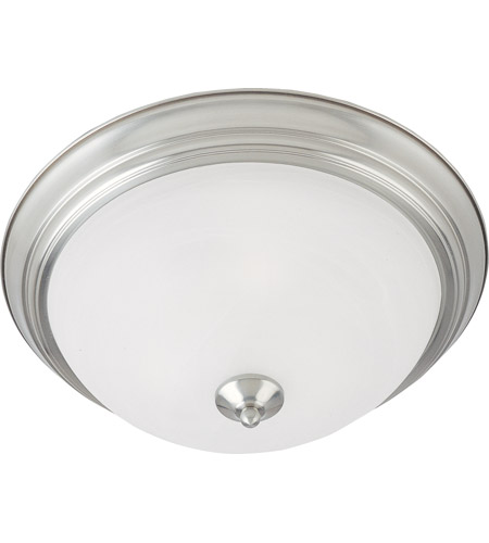 Maxim 584141mrsn Essentials 2 Light 14 Inch Satin Nickel Flush Mount Ceiling Photo
