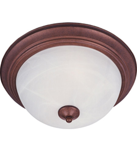 Maxim Maxim 2 Light Flush Mount in Country Stone with Marble Glass 5841MRCS photo