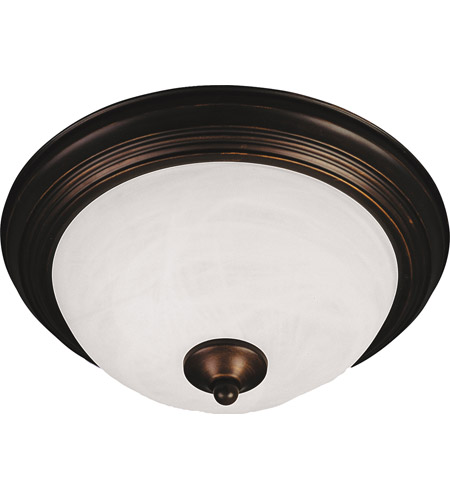 Maxim 5841MROI Signature 2 Light 14 inch Oil Rubbed Bronze Flush Mount Ceiling Light in Marble, 75 photo