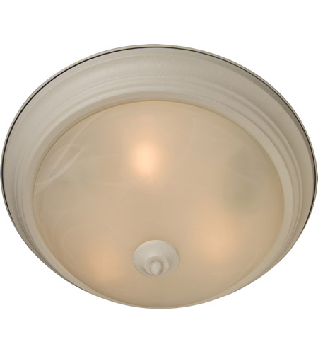 Maxim 5841MRTW Signature 2 Light 14 inch Textured White Flush Mount Ceiling Light in Marble, 60 photo