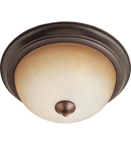 Maxim 5841wsoi Signature 2 Light 14 Inch Oil Rubbed Bronze Flush Mount Ceiling In Wilshire 75