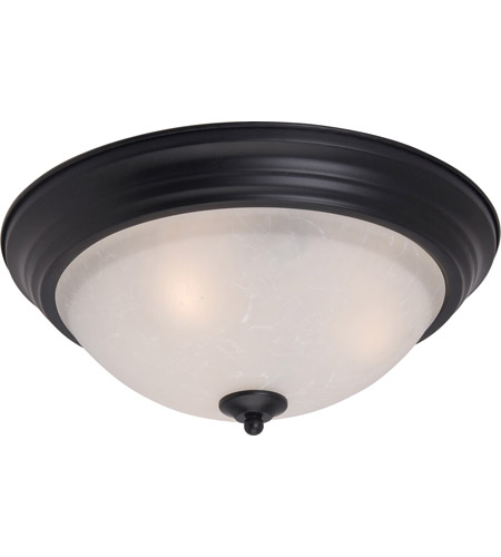 Maxim 5842ICBK Signature 3 Light 16 inch Black Flush Mount Ceiling Light in Ice photo