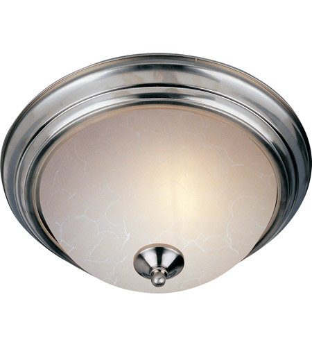 Maxim 5842ICSN Signature 3 Light 16 inch Satin Nickel Flush Mount Ceiling Light in Ice photo