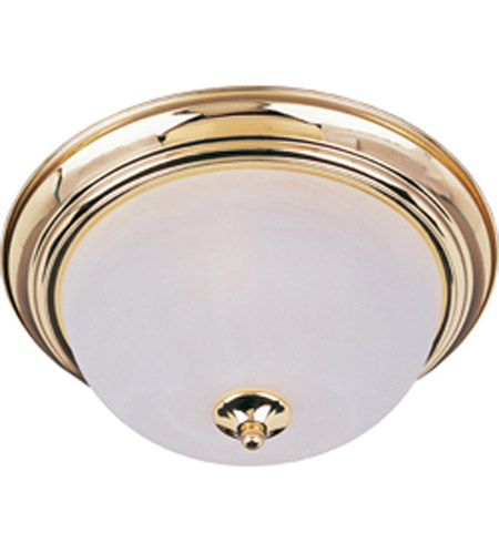 Maxim Lighting Signature 3 Light Flush Mount in Polished Brass 5842MRPB photo