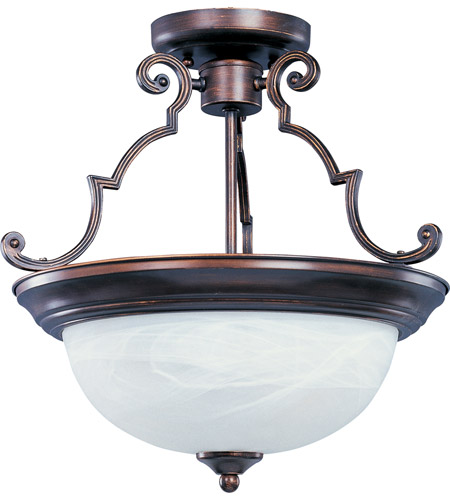 maxim 5843mroi signature 2 light 15 inch oil rubbed bronze semi