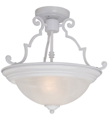 Maxim Lighting Signature 2 Light Semi Flush Mount in White 5843MRWT photo