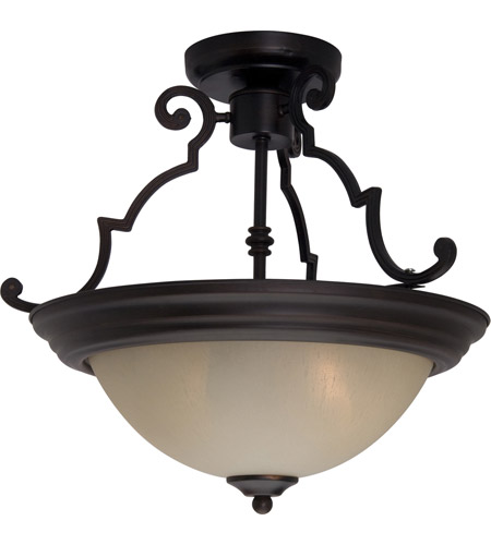 Maxim 5843WSOI Signature 2 Light 15 inch Oil Rubbed Bronze Semi Flush Mount Ceiling Light in Wilshire photo