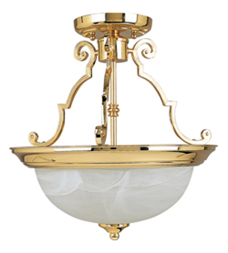 Maxim Lighting Signature 3 Light Semi Flush Mount in Polished Brass 5844MRPB photo