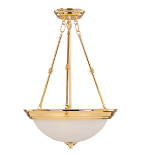 Maxim Lighting Signature 3 Light Pendant in Polished Brass 5845MRPB photo