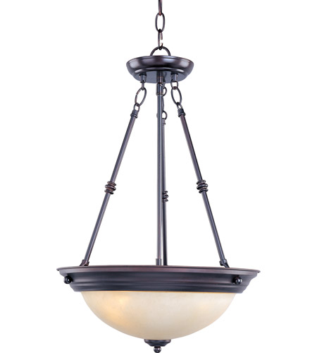 Maxim 5845WSOI Signature 3 Light 15 inch Oil Rubbed Bronze Pendant Ceiling Light in Wilshire photo