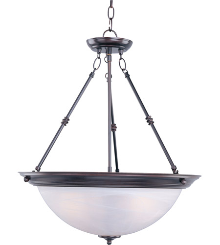 Maxim 5846MROI Signature 3 Light 20 inch Oil Rubbed Bronze Pendant Ceiling Light in Marble photo