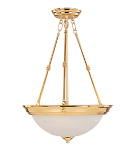 Maxim Lighting Signature 3 Light Pendant in Polished Brass 5846MRPB photo