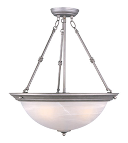 Maxim Lighting Signature 3 Light Pendant in Pewter 5846MRPE photo