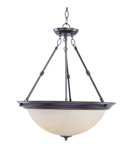Maxim 5846WSOI Signature 3 Light 20 inch Oil Rubbed Bronze Pendant Ceiling Light in Wilshire photo