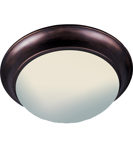 Maxim 5852FTOI Essentials - 585x 3 Light 17 inch Oil Rubbed Bronze Flush Mount Ceiling Light in Frosted photo