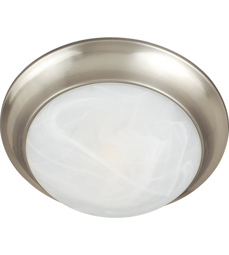 Maxim 5852MRSN Essentials - 585x 3 Light 17 inch Satin Nickel Flush Mount Ceiling Light in Marble photo