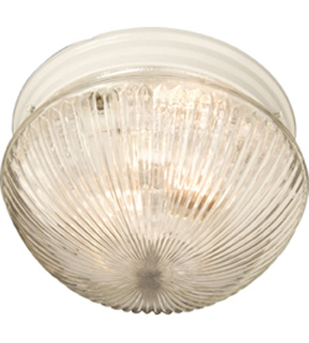 Maxim Lighting Signature 1 Light Flush Mount in White 5882CLWT photo