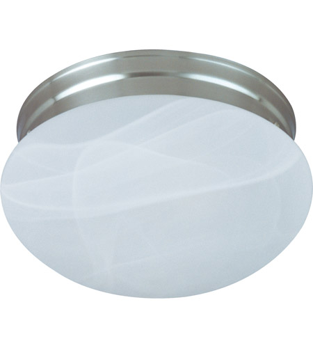 Maxim 5884MRSN Signature 1 Light 8 inch Satin Nickel Flush Mount Ceiling Light in Marble photo