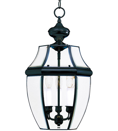 Maxim 6095CLBK South Park 3 Light 12 inch Black Outdoor Hanging Lantern photo
