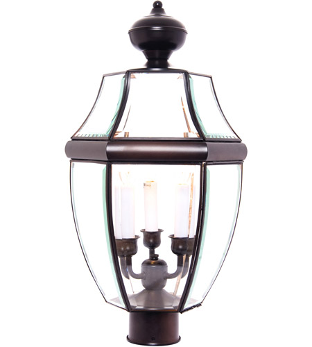 Maxim Lighting South Park 3 Light Outdoor Pole/Post Lantern in Burnished 6098CLBU photo