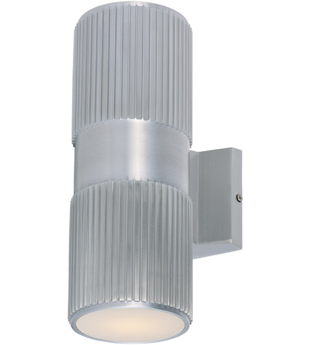 Maxim 6126AL Lightray 2 Light 4 Inch Brushed Aluminum Wall Sconce Wall Light