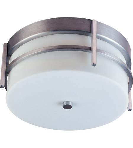 Maxim 65217WTBM Luna LED E26 LED 11 inch Brushed Metal Outdoor Flush Mount photo