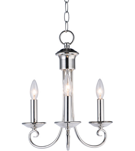 Maxim 70003PN Loft 3 Light 14 inch Polished Nickel Mini Chandelier Ceiling Light photo