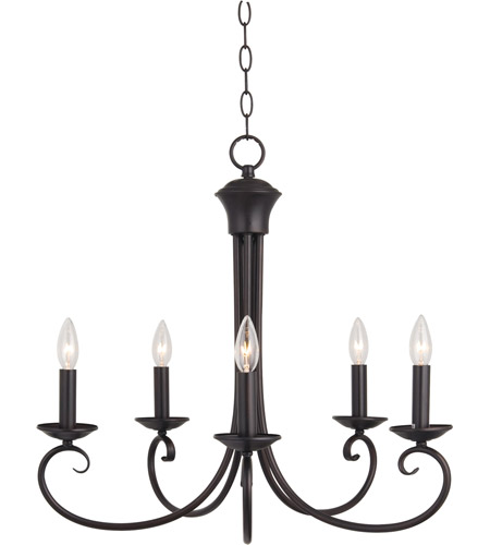 Maxim Lighting Loft 5 Light Single Tier Chandelier in Oil Rubbed Bronze 70005OI photo