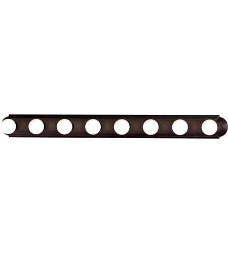 Maxim 7128OI Essentials 8 Light 48 inch Oil Rubbed Bronze Bath Light Wall Light photo