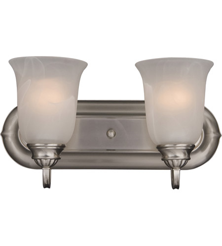 Maxim Lighting Essentials 2 Light Bath Light in Satin Nickel 7136MRSN photo