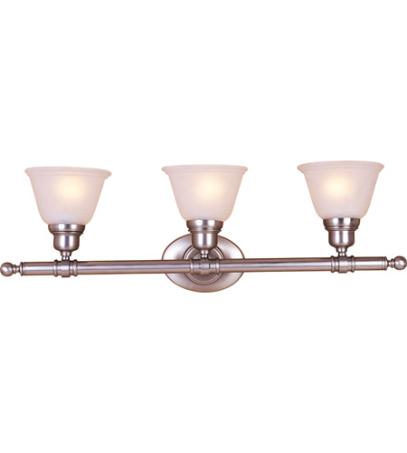 Maxim 7143FTSN Essentials - 714x 3 Light 30 inch Satin Nickel Bath Light Wall Light photo
