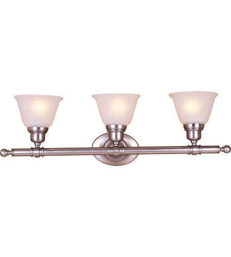 Maxim Lighting Essentials 3 Light Bath Light in Satin Nickel 7143FTSN photo