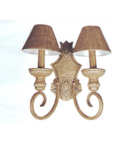 Maxim Lighting Avanti 2 Light Wall Sconce In Gold Leaf 7747gl