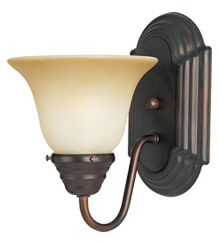 Maxim Lighting Essentials 1 Light Wall Sconce in Oil Rubbed Bronze 8011WSOI photo