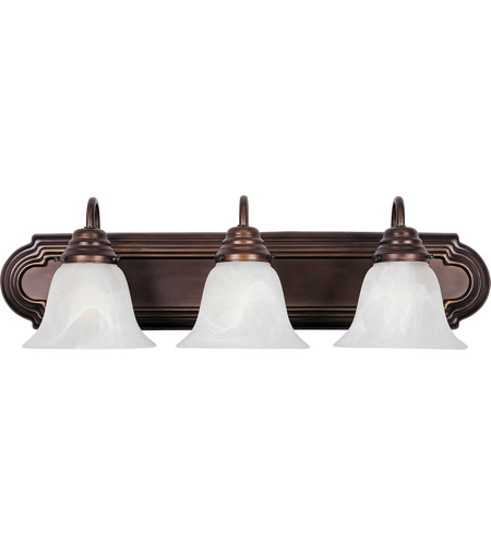 Maxim 8013MROI Essentials 3 Light 24 inch Oil Rubbed Bronze Bath Light Wall Light in Marble photo