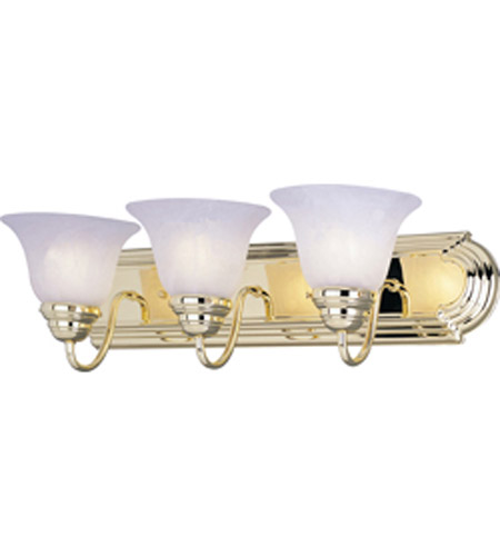 Maxim Lighting Essentials 3 Light Bath Vanity in Polished Brass 8013MRPB photo