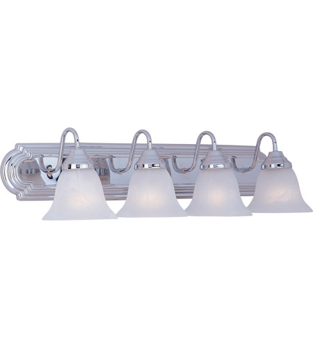 Maxim 8014MRPC Essentials 4 Light 30 inch Polished Chrome Bath Light Wall Light in Marble photo