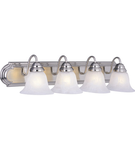 Maxim MRSN Essentials Light Inch Satin Nickel Bath Light - Satin nickel bathroom lights