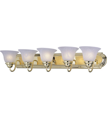 Maxim Lighting Essentials 5 Light Bath Vanity in Polished Brass 8015MRPB photo