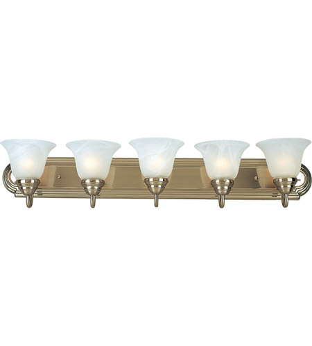 Maxim Lighting Essentials 5 Light Bath Light in Satin Nickel 8015MRSN photo