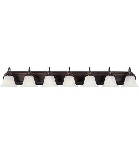 Maxim 8016MROI Essentials 7 Light 48 inch Oil Rubbed Bronze Bath Light Wall Light in Marble photo