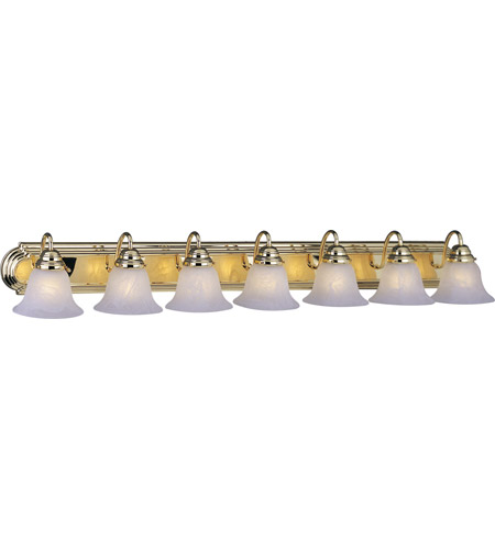 Maxim Lighting Essentials 7 Light Bath Vanity in Polished Brass 8016MRPB photo