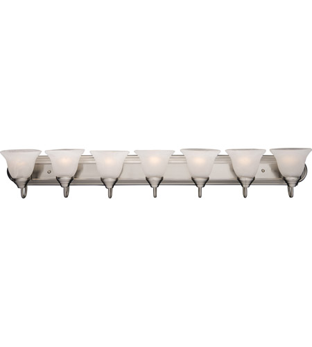 Maxim Lighting Essentials 7 Light Bath Light in Satin Nickel 8016MRSN photo