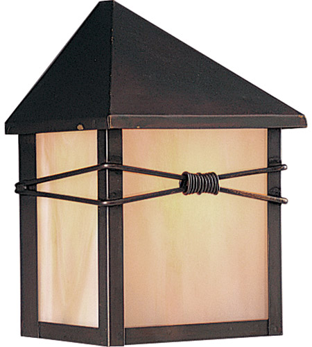 Maxim 8041IRBU Taliesin 1 Light 8 inch Burnished Outdoor Wall Mount photo
