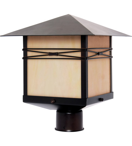 Maxim Lighting Taliesin 1 Light Outdoor Pole/Post Lantern in Burnished 8044IRBU photo